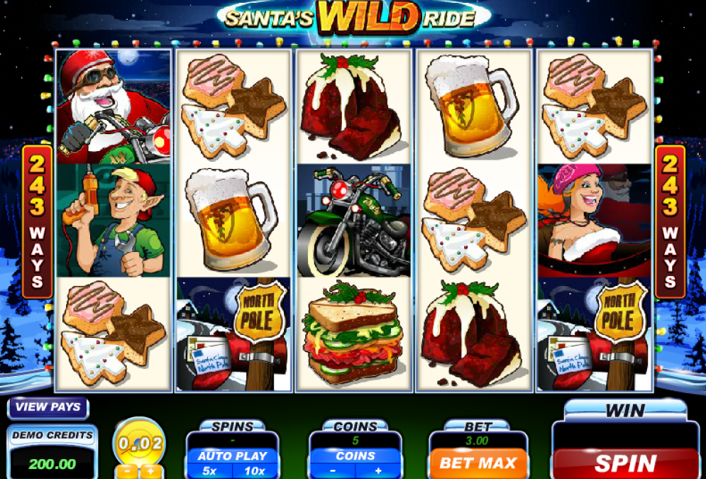Book Your Ride on Santa's Wild Ride Slot